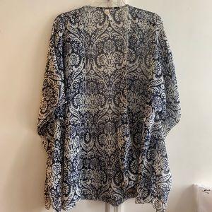 Blue/Sheer Kimono